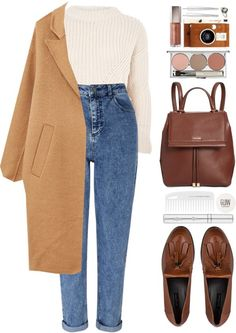 CosmicLoveStyle - # 1195 Bianca from blueberrylexie with Calvin . - CosmicLoveStyle – # 1195 Bianca by blueberrylexie with Calvin … – Linda Drache – - Mode Outfits, Trendy Outfits, Fashion Outfits, Womens Fashion, School Outfits, Jeans Fashion, Casual Fall Outfits, Girly Outfits, College Outfits