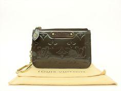 Louis Vuitton Authentic Monogram VERNIS Vert Bronze Key Chain Coin Purse Wallet #LouisVuitton #CoinPurse