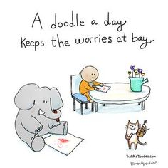"""""""A doodle a day keeps the worries at bay"""" Buddha Doodle Tiny Buddha, Little Buddha, Buddha Buddha, Art Quotes, Inspirational Quotes, Life Quotes, Motivational, Living Quotes, Book Quotes"""