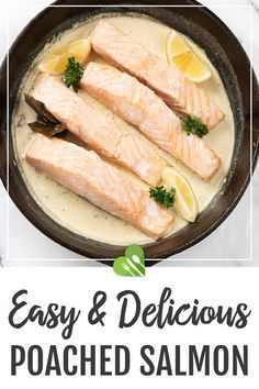 Poached salmon recipe is a simple dish to have whenever. It's quick, and it's a healthy option to include in your diet. #salmon #fish #seafood #poached #dinner #maindish #lemon #healthy #healthyrecipes101 Best Seafood Recipes, Best Dinner Recipes, Good Healthy Recipes, Healthy Options, Salmon Recipes, Whole Food Recipes, Poached Salmon, Cooking Salmon, Main Meals