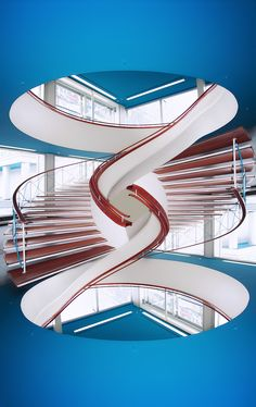 Escherian Escaleras Media Caracol/Half Spiral Stairs