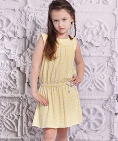 Take a look at this Cream Polka Dot Alba Dress - Infant, Toddler & Girls on zulily today!