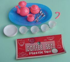 Image Detail for - 1960's Dime Store COFFEE SET Plastic Play Dishes Doll Collecting ...
