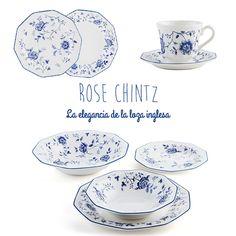 Para los más clásicos pero también para los que os gusta combinar diferentes tendencias en la casa...Hoy os presentamos la #vajilla de loza Rose Chintz de #Churchill.