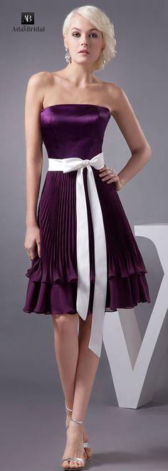 Wonderful chiffon starpless neckline knee-length A-line homecoming dresses with detachable sash (SOD25198)