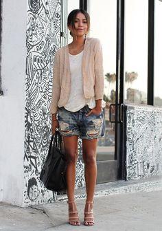 { dressed up denim shorts }