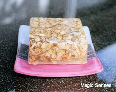 oatmeal in melt and pour soap idea