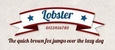 Lobster Font Lobster font free download