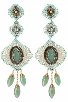 these 14k gold filled #chandelier #earrings are inspired by the beauty of the caribbean sea I NEWONE-SHOP.COM