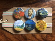 Personalised Badges, Van Gogh Art, Cool Pins, Button Badge, Custom Buttons, Pin Badges, I Am Happy, Handmade, Gifts