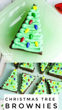 These easy Christmas Tree Brownies are perfect for holiday parties and to make with kids! These easy Christmas Tree Brownies are perfect for holiday parties and to make with kids! Christmas Desserts Easy, Christmas Party Food, Christmas Sweets, Simple Christmas, Holiday Treats, Holiday Recipes, Holiday Parties, Kids Christmas, Christmas Cookies For Kids