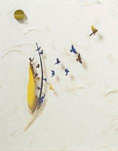 ALLPE Medio Ambiente Blog Medioambiente.org : Los dioramas de plumas caídas de Chris Maynard