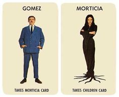 Vintage Addams Family Cards