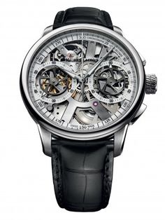 Maurice Lacroix MP7128-SS001-100 Le Chronographe Squelette Mechanical Skeleton Watch For Men