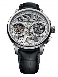 Maurice Lacroix MP7128-SS001-100 Le Chronographe Squelette Mechanical Skeleton Watch For Men