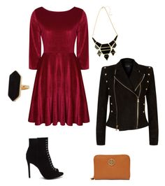 Драма by v-malkova on Polyvore featuring polyvore, fashion, style, WithChic, Balmain, Tory Burch, Jaeger and clothing