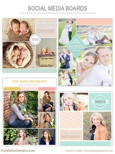 Social Media Boards – Digital Downloads, Photography Templates, Birth Announcements, Scrapbooking & More – Hazy Skies Designs