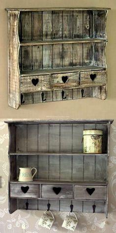 cheap pallet wooden shelf design