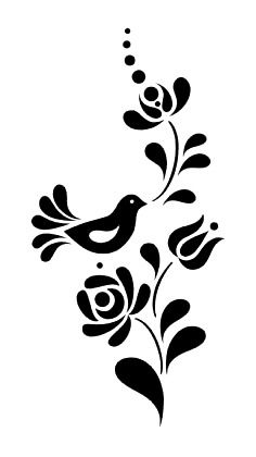 szalag3 ff-fordított Stencil Patterns, Stencil Designs, Embroidery Patterns, Stencils, Stencil Art, Bird Drawings, Easy Drawings, Tattoo Sticker, Hungarian Embroidery