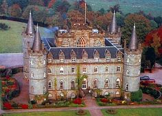 Clan Campbell - The current Clan Chief is the 13th Duke of Argyll, Torquil Campbell. He resides here at Inveraray Castle (in Argyll), the ancestral Clan home.