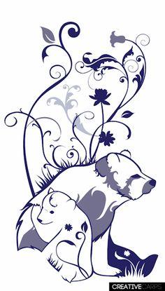 Mother Bear Tattoo | mother bear and cub tattoo design