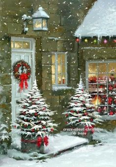 Good Free Christmas Wallpaper rustic Style Seeing that Holiday solutions, one of the favorite issues having most people is adorning their own s Christmas Scenery, Noel Christmas, Country Christmas, Christmas Pictures, Christmas Greetings, Winter Christmas, Christmas Themes, Vintage Christmas, Illustration Noel