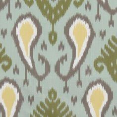 Batavia Ikat Aquamarine Contemporary Drapery Fabric by DwellStudio for Robert Allen