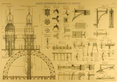 The Official Blueprints for the Eiffel Tower. The Eiffel Tower was built in 1887 by architect Alexandre Gustave Eiffel and his team. It took two years to complete the construction. Gustave Eiffel, Architecture Tumblr, Architecture Blueprints, Eiffel Tower History, Paris Eiffel Tower, Robert Crumb, Uss Enterprise, Monuments, Machu Picchu