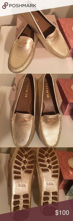 Coach Shoes Auth Coach shoes / Gold Coach Shoes Flats & Loafers