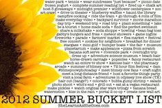 Love the idea of making a bucket list picture and crossing the items off as you go!