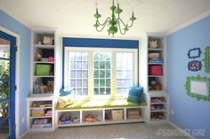 Playroom Storage Furniture | Built-in Playroom Storage Cabinets - The Sawdust Diaries