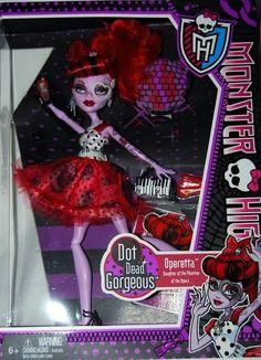 Monster High Dot Dead Gorgeous Operetta Doll *Damaged Box B*
