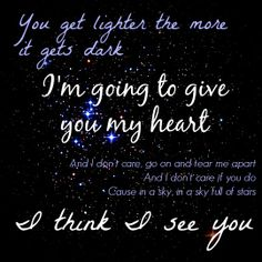 Coldplay - A Sky Full of Stars. I still love them as much as I did when their last cd came out