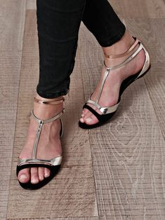 Love the metallic accents on these Pierre Hardy sandals. Beautiful and unique! Summer is over but resort perhaps?