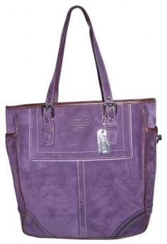 Coach bag.  I love purple purses! Beautiful!!