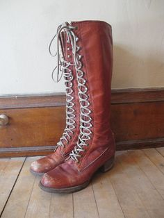 Want! Vintage Lace Up Frye Boots
