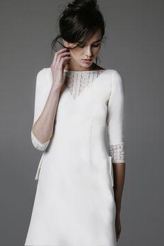 LA ROUX wedding dress - robe de mariée sobre manches