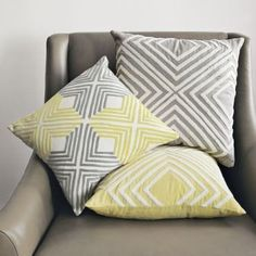 Crewel Diamond Pillow Cover | west elm