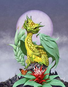 Pineapple Dragon Digital Art by Stanley Morrison
