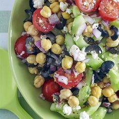Griekse kikkererwten salade