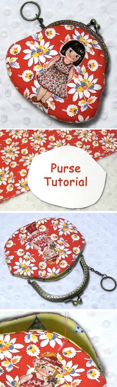 Metal Frame Coin Purse Tutorial DIY in Pictures. http://www.handmadiya.com/2015/10/frame-purse-tutorial.html
