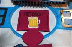 Embroidered beer cozy