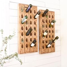 "178 Likes, 6 Comments - FiRefinish (@_firefinish_) on Instagram: ""How cool is this riddling rack we used at a clients house? Some air plants and wine ✅ #rustic…"""