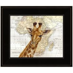 Out Of Africa Framed Wall Art (€57) ❤ liked on Polyvore featuring home, home decor, wall art, multicolor, colorful home decor, giraffe wall art, giraffe home decor, colorful wall art and framed wall art