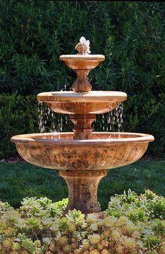 Garden Fountain - mediterranean - landscape - santa barbara - by Donna Lynn - Landscape Designer #gardenfountains
