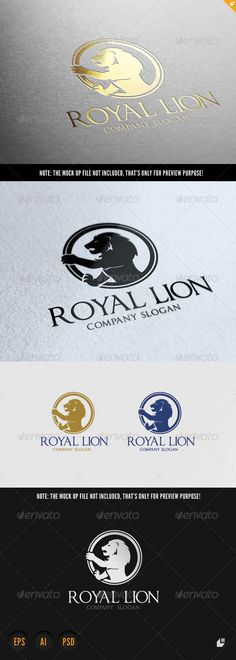 Lion Royal Brand by LayerSky This logo design for all creative business. Consulting, Excellent logo,simple and unique concept. Logo Template FeaturesPSD ( Adob