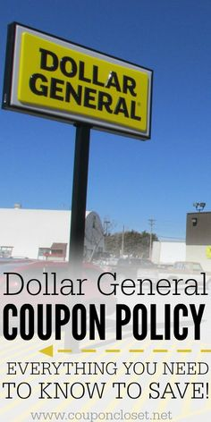 Let's talk about the Dollar General Coupon Policy so you can save money there. Everything you need to know to save at Dollar General.