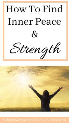 Tips on How to Find Inner Peace and Strength - Stress Management Tips Work Stress, Coping With Stress, Dealing With Stress, How To Relieve Stress, What Is Stress, Stress Management Activities, Stress Relief Gifts, Signs Of Stress