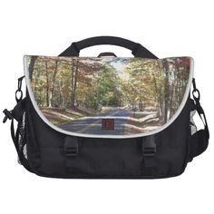Autumn Country Road Laptop Messenger Bag!  Thanks for looking!  Find many more items at http://www.zazzle.com/dww25921*