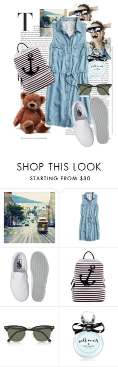 """""""it's a summer"""" by arnelacehic ❤ liked on Polyvore featuring KAROLINA, maurices, Vans, Dasein, Ray-Ban, Kate Spade, women's clothing, women's fashion, women and female"""